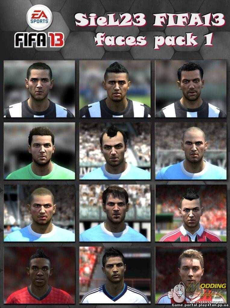 FIFA 13 Faces Pack 1